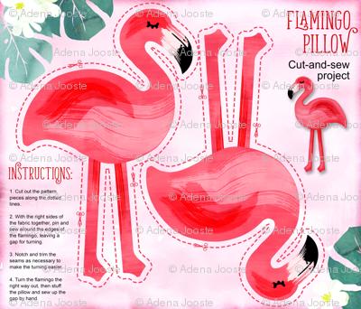 Flamingo Pillow - Yard