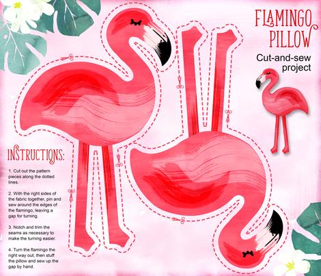 Flamingo Pillow - Yard fabric by adenaj on Spoonflower - custom fabric