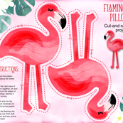 Flamingo Pillow - Yard