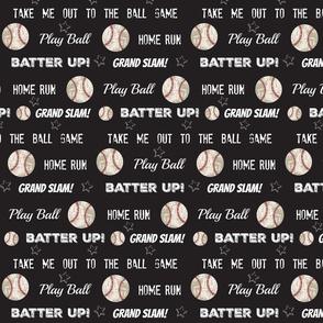 vintage black LARGE105worn baseball stars and text