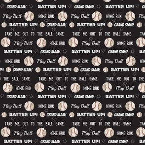 vintage black MED84 worn baseball stars and text