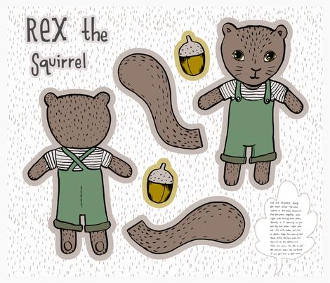 Rex The Squirrel fabric by mrshervi on Spoonflower - custom fabric