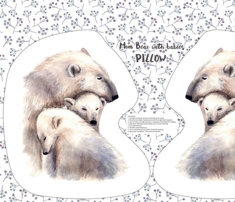 white bears pillow fabric by alenaganzhela on Spoonflower - custom fabric
