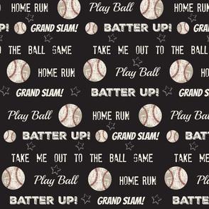 cream text vintage black  XL14 worn baseball stars and text