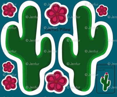 Cactus Cut & Sew Pillow