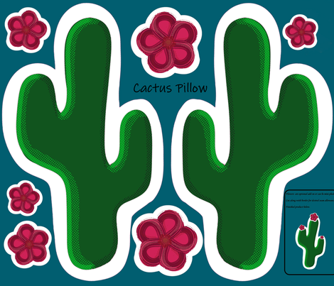 Cactus Cut & Sew Pillow fabric by jenfur on Spoonflower - custom fabric
