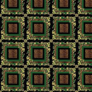 Baroque Plaid Green