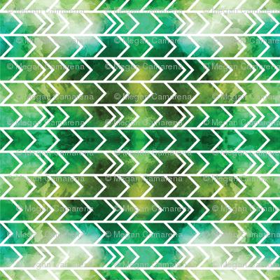 Watercolor Green Yellow Geometric Arrows