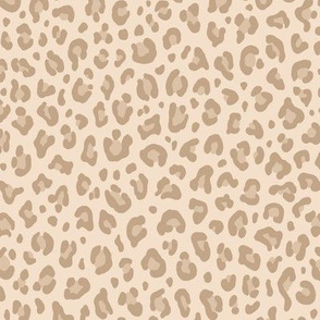 ★ LIGHT LEOPARD ★ Leopard Print in Beige - Small Scale / Collection : Leopard spots – Punk Rock Animal Print