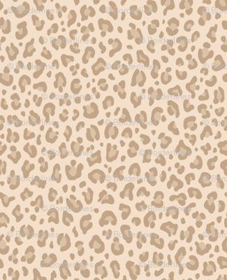 ★ LIGHT LEOPARD ★ Leopard Print in Beige - Medium Scale / Collection : Leopard spots – Punk Rock Animal Print