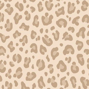 ★ LIGHT LEOPARD ★ Leopard Print in Beige - Medium Scale / Collection : Leopard spots – Punk Rock Animal Print