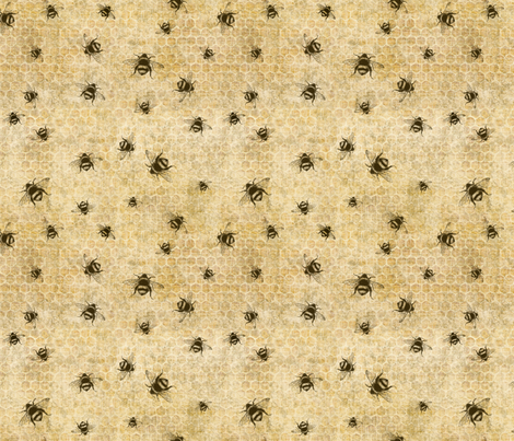 Save the Bees fabric by nikthebooksmith on Spoonflower - custom fabric