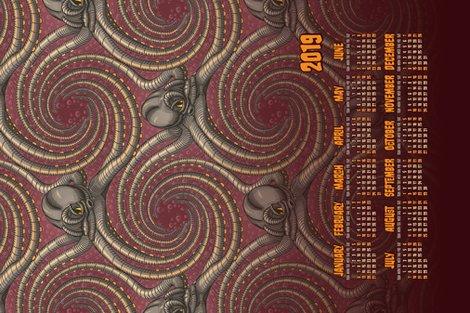 R2019-calendar-kraken-tentacles-steampunk-octopus-fabric-wallpaper-by-borderlines-original-and-rock-n-roll-textile-design_shop_preview
