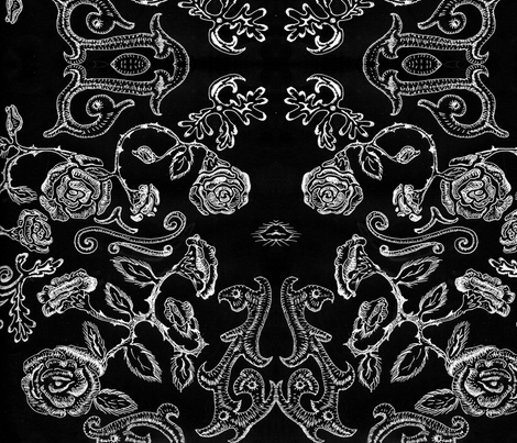 BW Floral fabric by katawampus on Spoonflower - custom fabric