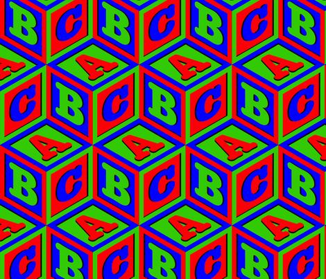 ABC blocks fabric by enid_a on Spoonflower - custom fabric