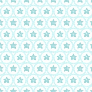 Scalloped Christmas Stars in Teal
