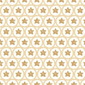 Scalloped Christmas Stars in Gold