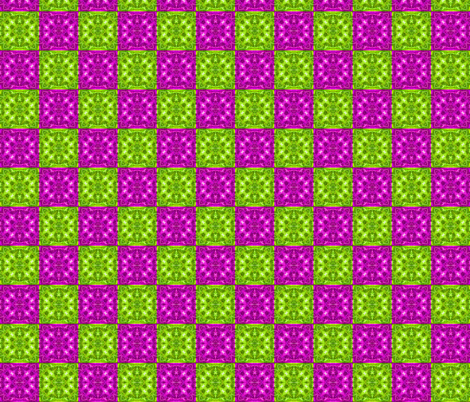Purple & Lime Green Checkered Marble fabric by just_meewowy_design on Spoonflower - custom fabric