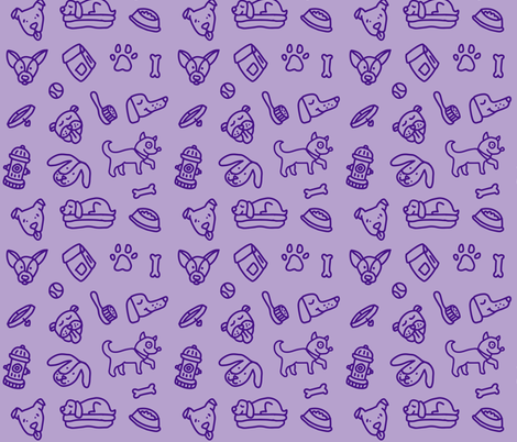 Purple dog bandana fabric by hopeanimalrescue on Spoonflower - custom fabric