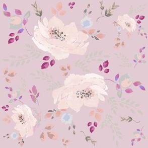DAVK designs-Pink Watercolor Roses Pattern