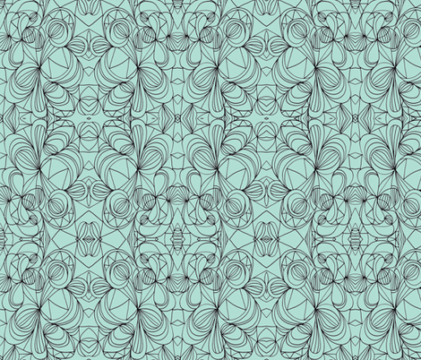 Loop de loop ll-teal fabric by unclemamma on Spoonflower - custom fabric