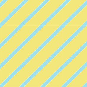 Lemon blue diagonal stripe