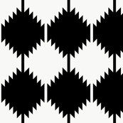 Modern ikat in black white