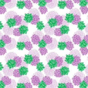 Purple green floral