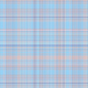 Pastel Blue and Beige Plaid