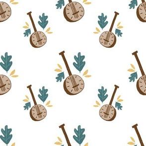 banjo-white