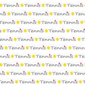 Heart tennis lanyard