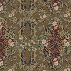 Leopard Cartouche Antique