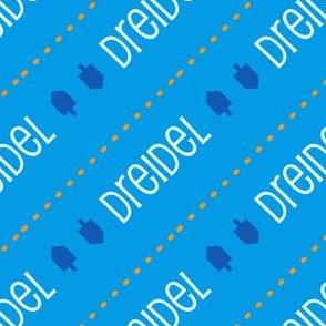 Dreidel Diagonal Blue and Blue Gold
