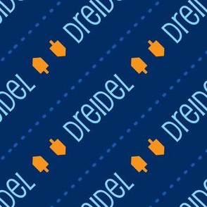 Dreidel Diagonal Blue and Gold-01