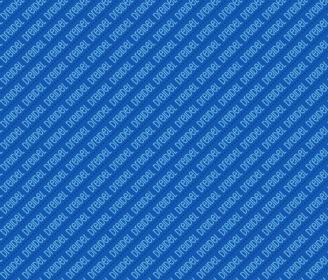 Dreidel Diagonal Blue Dark Blue Gold 19-01 fabric by khaus on Spoonflower - custom fabric
