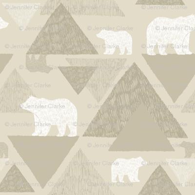 Mountain Bears - light beige