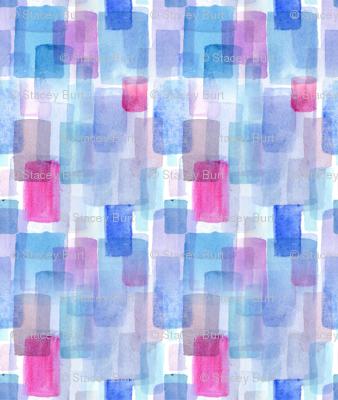 Modern Watercolour Tiles in Blue Hues