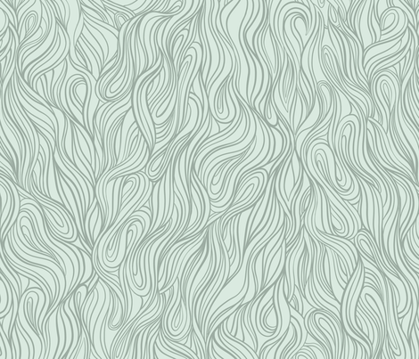 Green Wave fabric by torysevas on Spoonflower - custom fabric