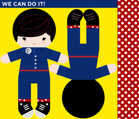 Rosie Says: We Can Do It! fabric by natitys on Spoonflower - custom fabric