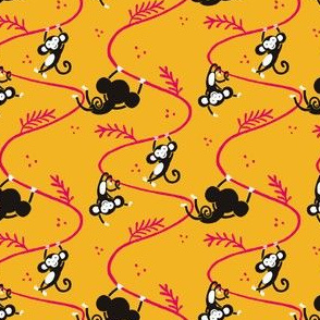 monkeys_tile_josephineskapare-yellowpinkblack_2000px