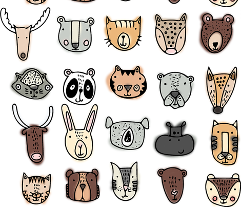 Animals fabric by heatherdoucette on Spoonflower - custom fabric