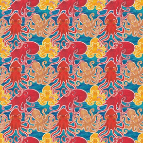Octopodes on Blue
