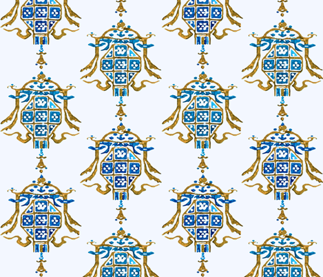 lantern pattern 3 fabric by engravogirl on Spoonflower - custom fabric