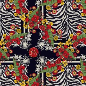 Zebra Zinnia medium