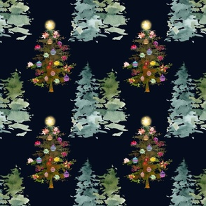The Loveliest Christmas Tree // Dk. Blue-Black
