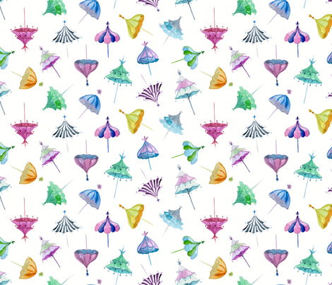 Umbrella Drop Large Scale fabric by danika_herrick on Spoonflower - custom fabric