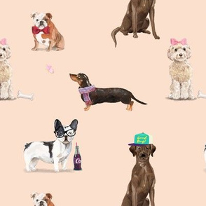 Dogs of Insta // Peachy Tan Neutral