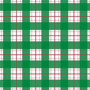 FS Fa-La-La Llama Green Red Plaid