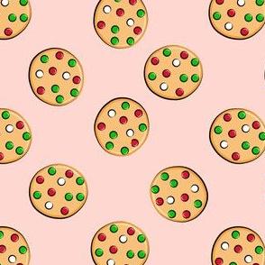 just cookies - christmas cookies on pink