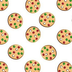just cookies - christmas cookies on white